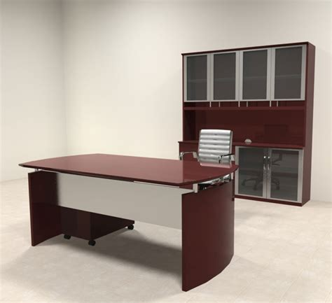 Modern Executive Desk Sets 4pc Modern Contemporary Executive Office Desk Set Ro Nap D8 Ebay