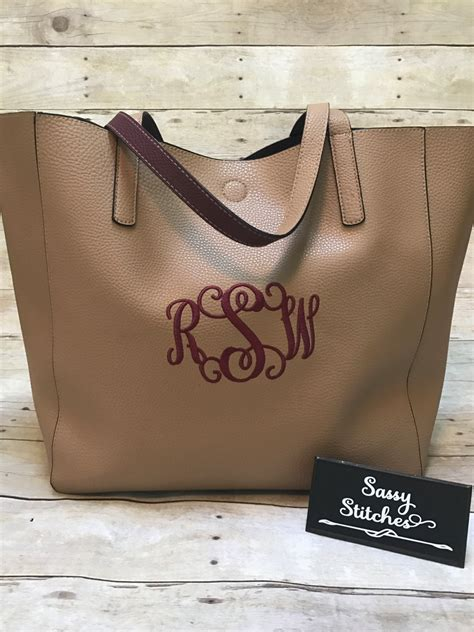 tote bag monogrammed tote bag large tote bag personalized