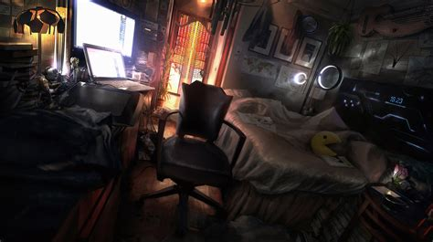 cyberpunk bedroom by julxart deviantart com on deviantart the den by jonasdero on deviantart