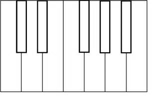 Piano Template by Piano Keyboard Template Clipart Best