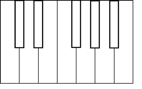 piano keyboard template clipart best