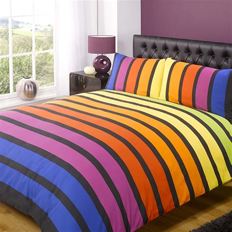 Striped Bedding Set Striped Bright Quilt Cover Tony S Textiles Tonys Textiles