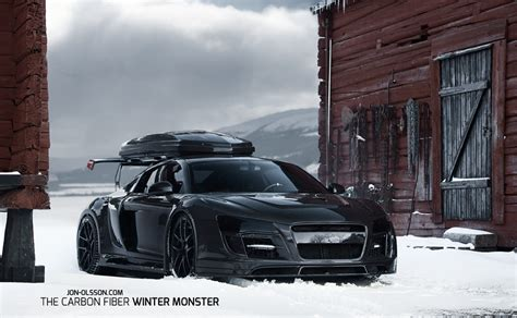 Black on Black with a Ski Rack: Jon Olsson's Audi R8 6SpeedOnline