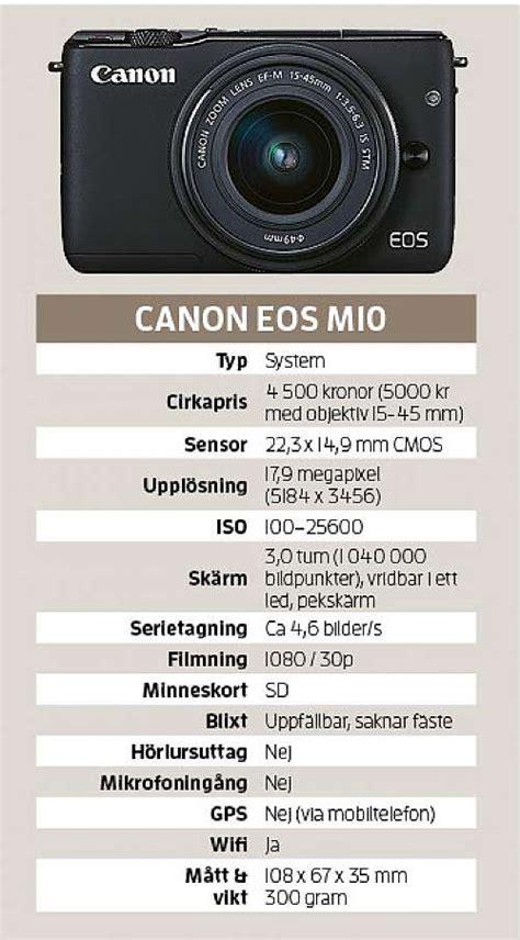 Kamera Canon Eos M10 canon eos m10 system f 246 r nyb 246 rjaren kamera bild