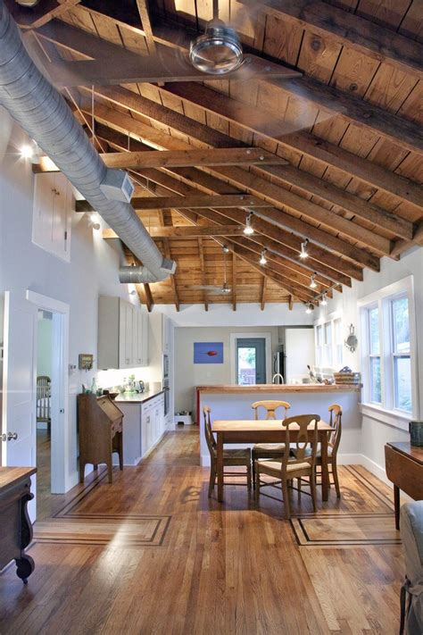 charleston exposed beam ceiling  kitchen traditional