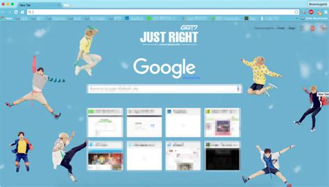 theme google chrome got7 just right got7 just right chrome theme themebeta