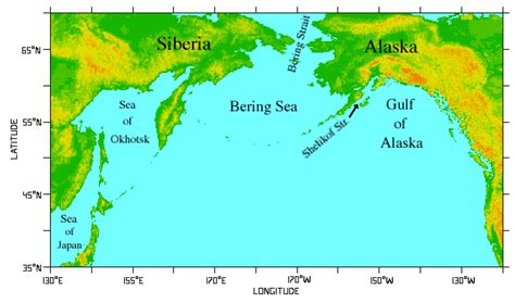 america map bering strait getting here initially