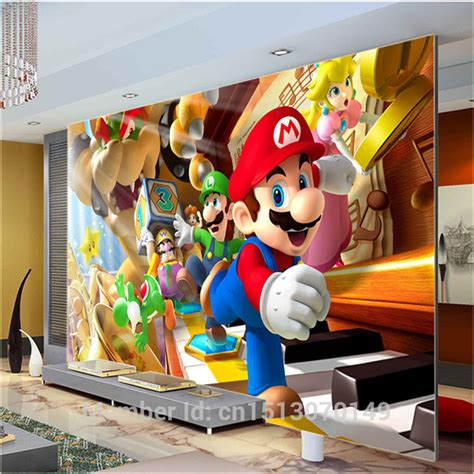 Mario Bedroom Decorative Items Aliexpress Buy Custom Large Photo Wallpaper