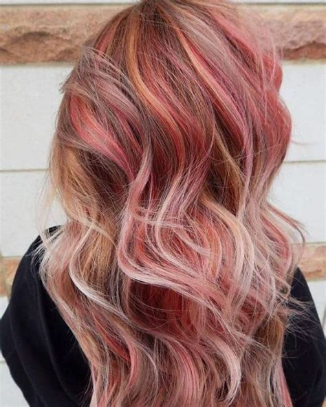 blone hair with pink streaks 40 pink hairstyles pastel colors pink highlights blonde