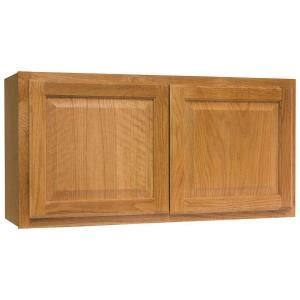 medium oak kitchen cabinets hton bay hton assembled 36x18x12 in wall bridge