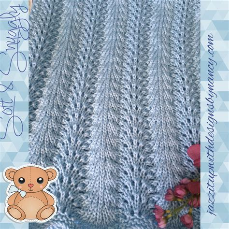 baby blanket dimensions knitting baby blanket knit blue crib size feather fan caron simply