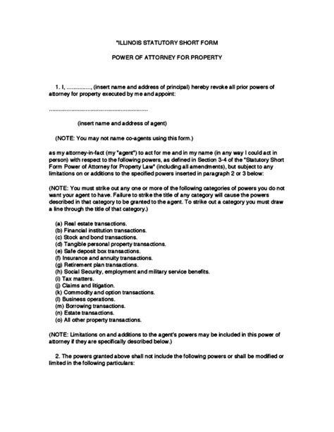 section 5 poa illinois durable power of attorney form legalforms org