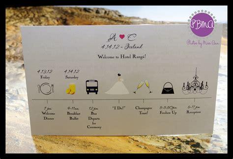 Wedding Timeline Cards iceland wedding timeline card iceland wedding planner