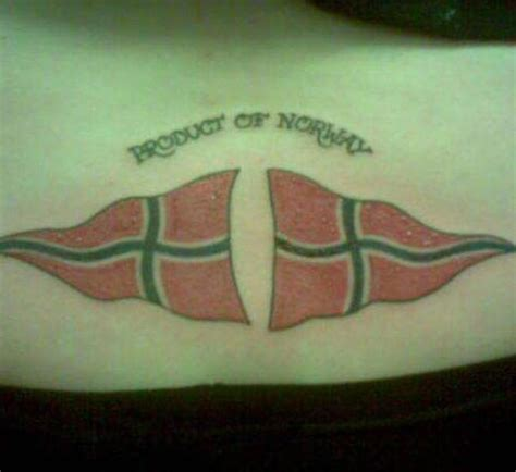 3d tattoo norge norway flags tattoo on lower back tattooimages biz