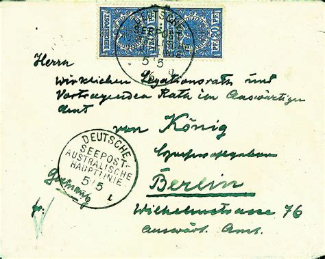 Demand Letter German Dirk H R Spennemann Sts And Postal History Of The German Marshall Islands Eagle Issues