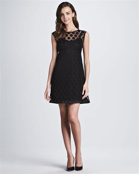 Dress Lace Polka laundry by shelli segal polkadot lace dress in black lyst