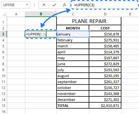 format excel uppercase how to change case in excel to uppercase lowercase