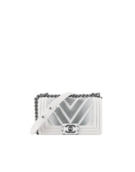 Chanel Sabit Silver White chanel summer 2016 act 2 bag collection chanel air spotted fashion