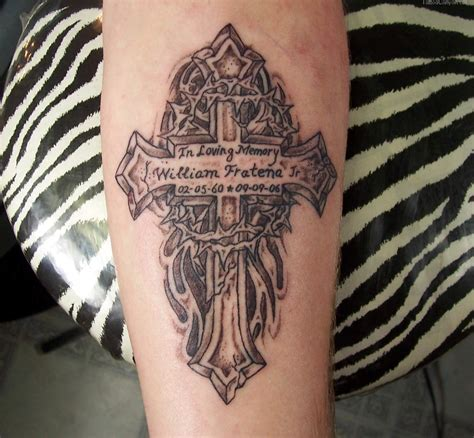 in memory cross tattoo designs memorial tattoos page 2