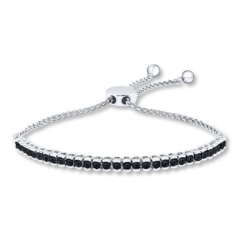 1 Ct Tw Bracelet - bolo bracelet 1 15 ct tw black diamonds sterling silver