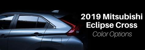 eclipse color what colors does the 2019 mitsubishi eclipse cross come in