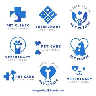 Variety Of Vet Logos Vector Free Download Veterinarian Badge Template