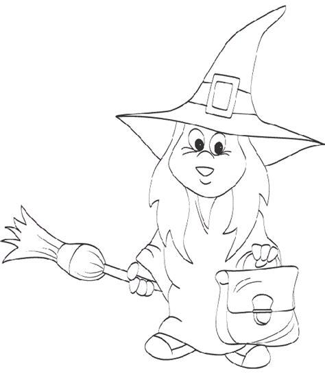 imagenes para pintar la cara de bruja maestra de infantil dibujos de halloween para colorear