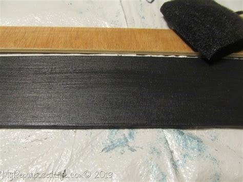 chalkboard paint on plywood easy rolled paper memo notepad my repurposed