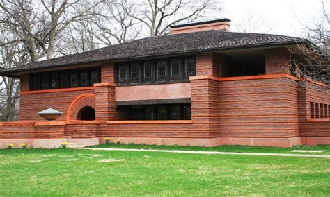 frank lloyd wright prairie style prairie and foursquare architectural styles of america
