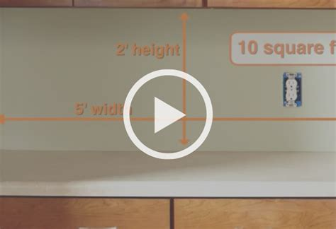 how to measure for kitchen backsplash how to install a kitchen backsplash at the home depot