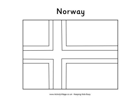norway flag colouring