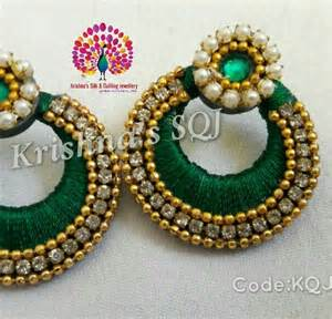 Silk thread chandbali silk jewellery
