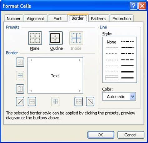 format excel borders adding diagonal borders microsoft excel