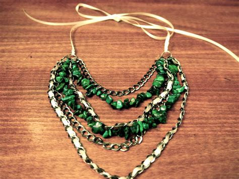 diy beaded necklace diy beaded ribbon chain necklace pumps iron