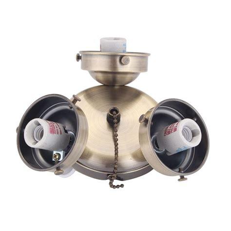44 in clarkston ceiling fan clarkston 44 in antique brass light kit 13431100502300