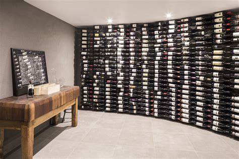 Home Interior Design For Bedroom wine room floor to ceiling racks