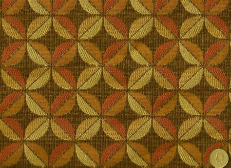mid century upholstery fabric woven mid century modern abstract floral spice tones