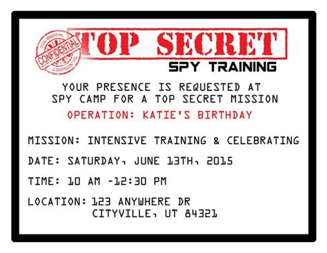 Secret Card Template by Printable Invitations The O Jays Birthdays