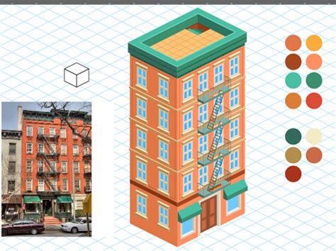 Vector Building Tutorial | how to create a detailed isometric building in adobe
