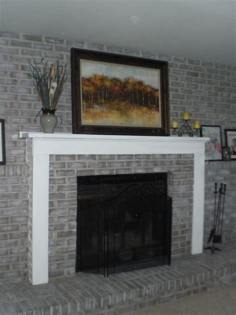 Large Brick Fireplace Makeover by Diy Decor Brick Fireplace Makeover