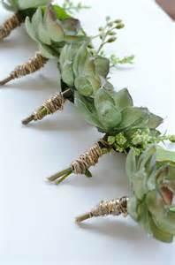 succulent boutonniere rustic boutonniere green succulents