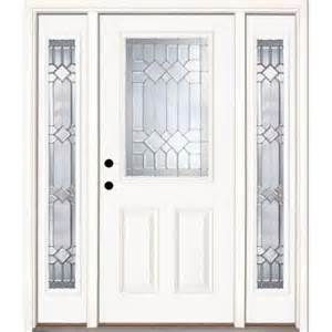 Home Depot Exterior Doors With Sidelights Feather River Doors Mission Pointe Zinc 1 2 Lite