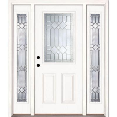 home depot front doors with sidelights feather river doors mission pointe zinc 1 2 lite