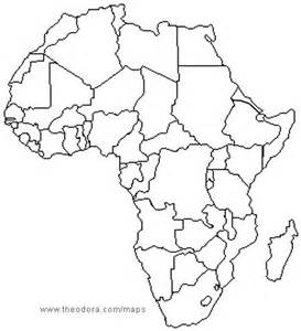 Blank Map Africa by Africa Map Without Names Bing Images Education