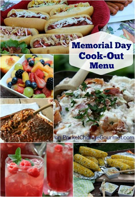 Cpwm Memorial Day Bbq Appetizer Menu by Memorial Day Cook Out Food Recipe Pocket Change Gourmet