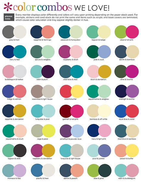 2017 color combinations image result for suggested color combinations erin condren