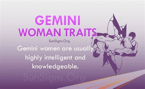 gemini woman personality traits characteristics sun signs