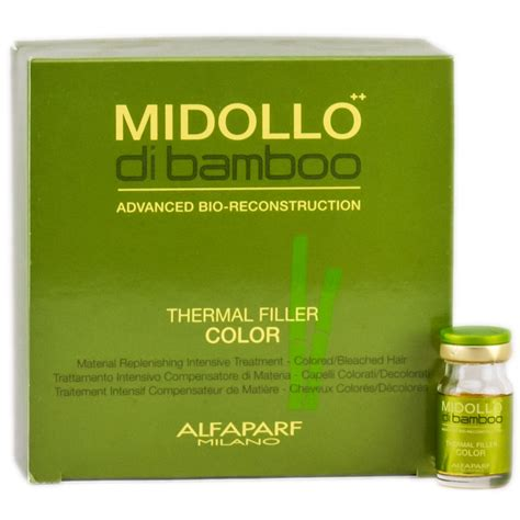 Alfaparf Mid Bamboo Thermal Filler Color 6 X 5ml alfaparf midollo di bamboo thermal filler color