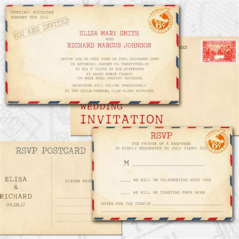 wedding invite postcard style 25 cool diy wedding invitation
