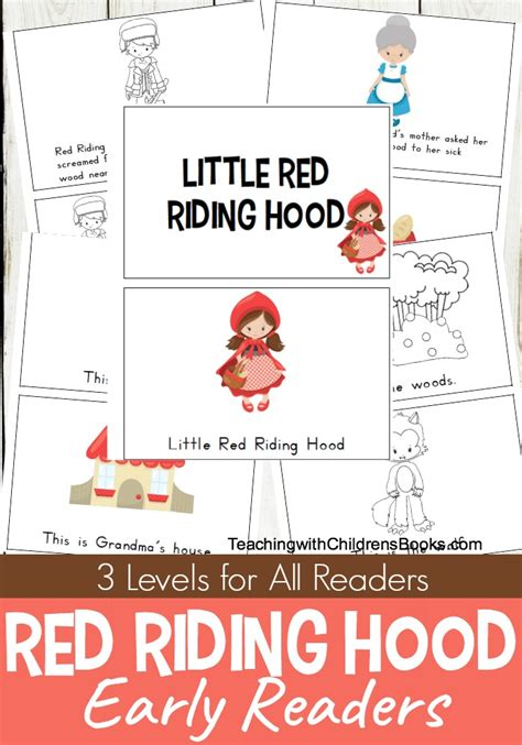 printable version of little red riding hood free printable little red riding hood mini book set